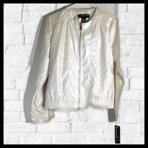NWT Peck & Peck Pearl Shine Jacket Size Small